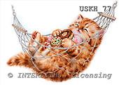 Kayomi, CUTE ANIMALS, paintings, HappyHammock_M, USKH77,#AC# stickers illustrations, pinturas ,everyday