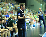 09.06.2019, Max Schmeling Halle, Berlin, GER, DHB,  1.HBL,  FUECHSE BERLIN VS. HSG Wetzlar,<br /> DHB regulations prohibit any use of photographs as image sequences and/or quasi-video<br /> im Bild Cheftrainer (Head Coach) Velimir Petkovic (Fuechse Berlin)<br /> <br />      <br /> Foto © nordphoto / Engler