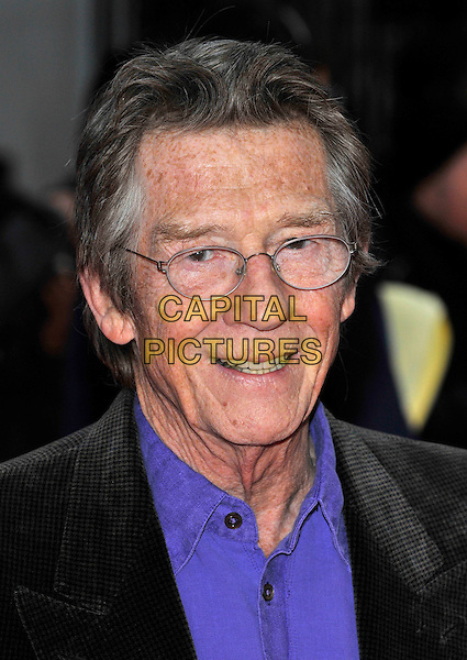 JOHN HURT <br /> Attending the Pride Of Britain Awards 2009, Grosvenor House, London, England, UK, October 5th 2009.<br /> arrivals portrait headshot glasses blue shirt <br /> CAP/PL<br /> &copy;Phil Loftus/Capital Pictures