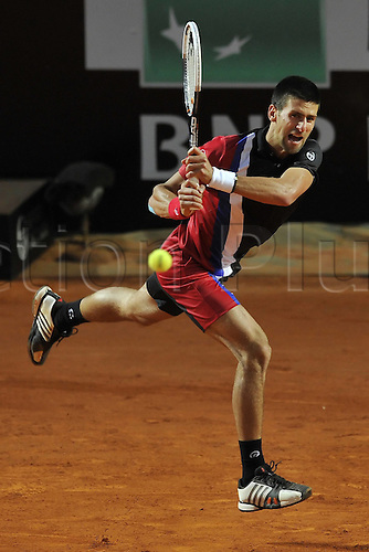 19.05.2012. Rome, Italy.  Novak Djokovic of Serbia Italian Open tennis tournament, Rome, Italy.