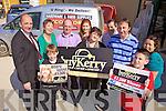 L-r:Brendan Kennelly, Tom O'Connor, Betty O'Sullivan(C.U Listowel), Dennis Dillane(C.U Listowel), Nora Dowling, Margaret Dowling (winner), Maurice Dowling(husband), Larry O'Connor(Owner), Eamonn Dowling, Tanya Allen