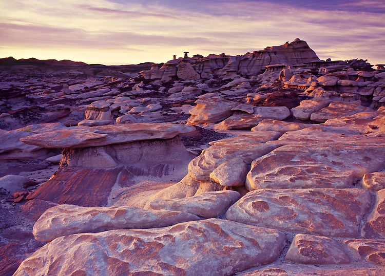 "In Bisti Badlands, ""Mushroom City"" features thousands of eroded sandstone hoodoos"