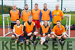 At the Over 35s Inter-Firm Soccer Tournament at John Mitchels sports complex were The Narries Front L-r Michael McDonnell, Barry O'Shea, Mark Ross, Mark Fitzgerald Back l-r Jeff Clifford, Philip Moriarty, Simon McCarthy, Ken Savage, Jay Kelly