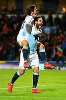 Blackburn Rovers' Bradley Dack celebrates scoring his side's second goal with his team-mate Danny Graham<br /> <br /> Photographer Richard Martin-Roberts/CameraSport<br /> <br /> The EFL Sky Bet Championship - Blackburn Rovers v West Bromwich Albion - Tuesday 1st January 2019 - Ewood Park - Blackburn<br /> <br /> World Copyright &not;&copy; 2019 CameraSport. All rights reserved. 43 Linden Ave. Countesthorpe. Leicester. England. LE8 5PG - Tel: +44 (0) 116 277 4147 - admin@camerasport.com - www.camerasport.com