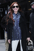 NEW YORK, NY - January 07: Lindsay Lohan seen at Good Morning America to promote her new reality show Lindsay Lohan's Beach Club on January 07, 2019 in New York City.  <br /> CAP/MPI/RW<br /> &copy;RW/MPI/Capital Pictures
