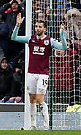 Jay Rodriguez of Burnley throws his arms up after his shot hit the bar and bounced out during the Premier League match at Turf Moor, Burnley. Picture date: 2nd February 2020. Picture credit should read: Andrew Yates/Sportimage