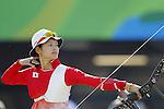 Kaori Kawanaka (JPN),<br /> AUGUST 7 2016 - Archery : <br /> Women's teaml final Round <br /> at Sambodromo <br /> during the Rio 2016 Olympic Games in Rio de Janeiro, Brazil. <br /> (Photo by Yusuke Nakanishi/AFLO SPORT)