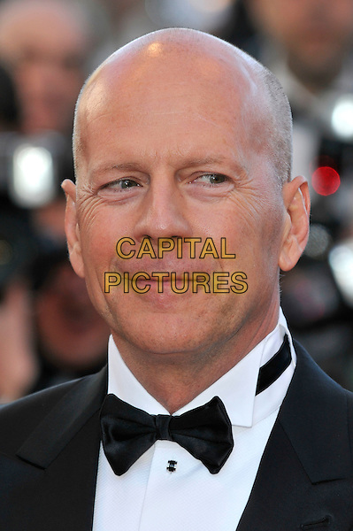 Bruce Willis.'Moonrise Kingdom' screening and opening of the 65th Cannes Film Festival, France..16th May 2012.headshot portrait black white bow tie.CAP/PL.©Phil Loftus/Capital Pictures.