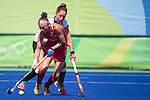 Michelle Kasold #18 of United States carries during USA vs Germany in a women's quarterfinal game at the Rio 2016 Olympics at the Olympic Hockey Centre in Rio de Janeiro, Brazil.