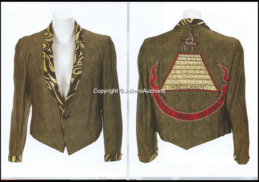 BNPS.co.uk (01202 558833)<br /> Pic: JuliensAuctions/BNPS<br /> <br /> ***Please Use Full Byline***<br /> <br /> Desperately Seeking Susan jacket. Est: $30,000 - 50,000.<br /> <br /> A British hedge fund company is about to cash-in on a surprisingly-secure investment - Madonna.<br /> <br /> Marquee Capital was launched in 2005 looking for investors to raise a six-figure kitty to snap up celebrity memorabilia.<br /> <br /> The organisation bought more than 140 Madonna items, mostly costumes and jewellery, she wore during her movie and singing career.<br /> <br /> The goods included dozens of outfits from the 1996 hit musical Evita as well as the star's peach baseball dress and glove from her 1992 movie 'A League of Their Own' and a vest top and jeans she wore for her music video of American Pie.<br /> <br /> The sale takes place at LA-based Julien's Auctions on November 7.