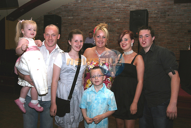 Brian, Daria, Sarah, Penny, Hannah, Ray and Jack McKenna celebrating Penny's 40th in McHughs...Photo NEWSFILE/Jenny Matthews.(Photo credit should read Jenny Matthews/NEWSFILE)....This Picture has been sent you under the condtions enclosed by:.Newsfile Ltd..The Studio,.Millmount Abbey,.Drogheda,.Co Meath..Ireland..Tel: +353(0)41-9871240.Fax: +353(0)41-9871260.GSM: +353(0)86-2500958.email: pictures@newsfile.ie.www.newsfile.ie.FTP: 193.120.102.198.