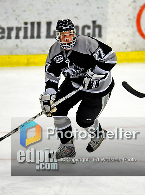 7 February 2009: Providence College Friars' right wing forward Pierce Norton, a Senior from South Boston, MA, in action against the University of Vermont Catamounts during the second game of a weekend series at Gutterson Fieldhouse in Burlington, Vermont. The Catamounts swept the 2-game series notching 4-1 wins in both games. Mandatory Photo Credit: Ed Wolfstein Photo