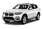 2019 BMW X3 Base 5 Door SUV angular front stock photos of front three quarter view