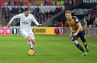 during the Barclays Premier League match between Swansea City and Arsenal at the Liberty Stadium, Swansea on October 31st 2015