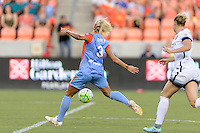 Houston, TX - Saturday July 16, 2016: Rachel Daly during a regular season National Women's Soccer League (NWSL) match between the Houston Dash and the Portland Thorns FC at BBVA Compass Stadium.