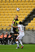 Wellington Phoenix&rsquo; Mitch Nichols in action during the A-League - Wellington Phoenix v Western Sydney Wanderers at Westpac Stadium, Wellington, New Zealand on Saturday 3 November  2018. <br /> Photo by Masanori Udagawa. <br /> www.photowellington.photoshelter.com