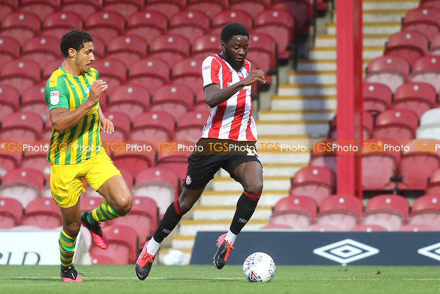 Josh DaSilva of Brentford in action during Brentford vs West Bromwich Albion, Sky Bet EFL Championship Football at Griffin Park on 26th June 2020