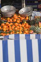 Europe/France/06/Alpes-Maritimes/Nice: Oranges sur le Marché du Cours Saleya
