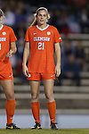 20 October 2013: Clemson's Abby Jones. The University of North Carolina Tar Heels hosted the University of Virginia Cavaliers at Fetzer Field in Chapel Hill, NC in a 2013 NCAA Division I Women's Soccer match. North Carolina won the game 2-0.