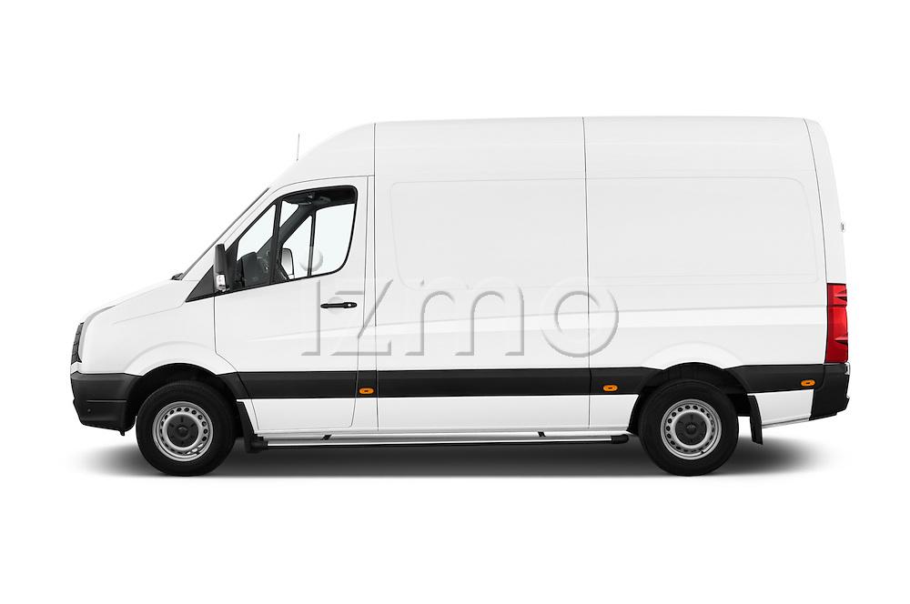 Car Driver side profile view of a 2014 Volkswagen CRAFTER 2.0TDI 4 Door Cargo Van Side View