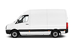 Car Driver side profile view of a 2014 Volkswagen CRAFTER 2.0TDI 4 Door Cargo Van Side View