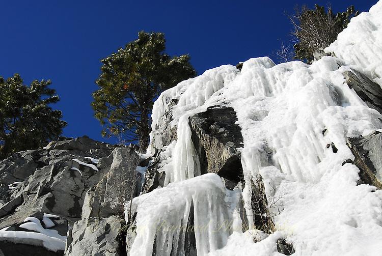 Ice Falls along Lake Koocanusa, Montana