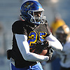 Kevon Hall #25 of Roosevelt rushes for a gain during the Nassau County Conference III varsity football semifinals against Wantagh at Hofstra University on Saturday, Nov. 11, 2017.