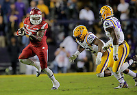 11/14/15<br /> Arkansas Democrat-Gazette/STEPHEN B. THORNTON<br /> Arkansas' Alex Collins racks up yardage in the third quarter during their game Saturday in Baton Rouge, La.
