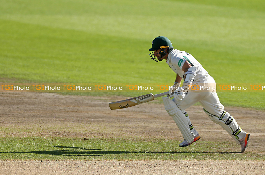 Daryl Mitchell of Worcestershire in batting action runs to get his Century Daryl will go onto score 123 not out during Worcestershire CCC vs Durham CCC, Specsavers County Championship Division 2 Cricket at New Road on 28th September 2017