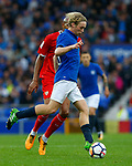 Everton's Tom Davies during the pre season friendly match at Goodison Park Stadium, Liverpool. Picture date 6th August 2017. Picture credit should read: Paul Thomas/Sportimage