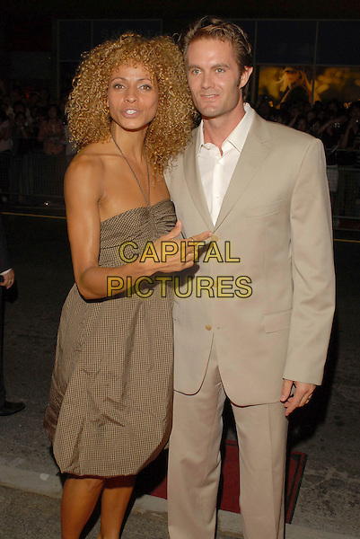 """GARRET DILLAHUNT & GUEST.""""The Assassination of Jesse James by the Coward Robert Ford"""" Premiere during the 2007 Toronto International Film Festival held at the Elgin Theatre, Toronto, Ontario, Canada, 08 September 2007..half length beige suit.CAP/ADM/BP.©Brent Perniac/AdMedia/Capital Pictures."""
