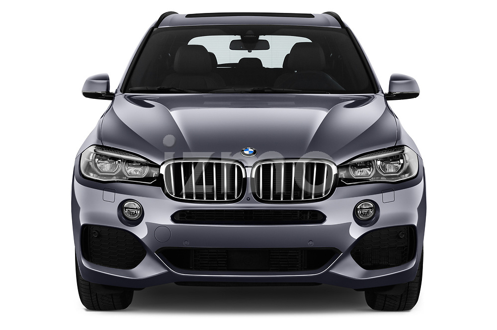 Car photography straight front view of a 2018 BMW X5 Plug-in Hybrid iPerformance 5 Door SUV