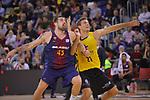 League ACB-ENDESA 2017/2018 - Game: 11.<br /> FC Barcelona Lassa vs Iberostar Tenerife: 91-93.<br /> Tim Abromaitis vs Adrien Moerman.