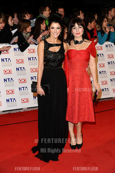 Natalie Anderson and Roksaneh Ghawam-Shahidi arriving for the National Television Awards 2011, at the O2, London. 26/01/2011  Picture By: Steve Vas / Featureflash