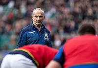 Conor O'Shea head coach of Italy during the Guinness Six Nations match between England and Italy at Twickenham Stadium on March 9th, 2019 in London, United Kingdom. Photo by Liam McAvoy.