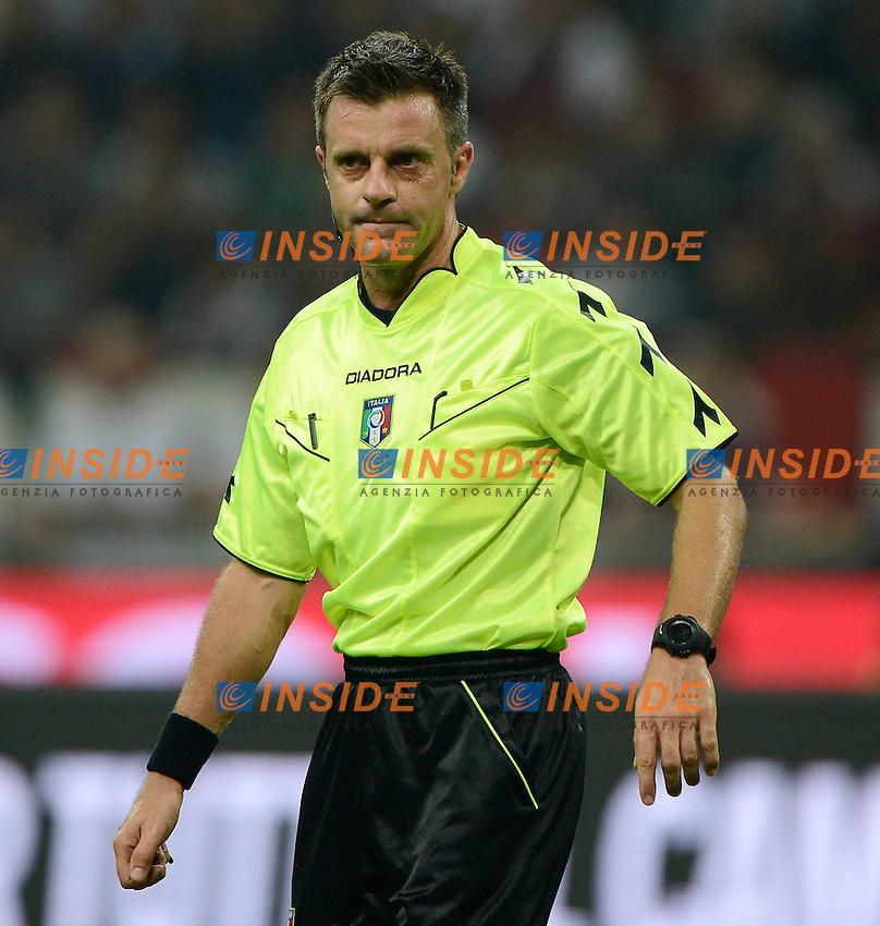 Nicola Rizzoli arbitro. Referee<br /> Milano 20-09-2014 Stadio Giuseppe Meazza - Football Calcio Serie A Milan - Juventus. Foto Giuseppe Celeste / Insidefoto
