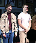 "Michael Cera and Lucas Hedges during the Opening Night Curtain Call bows for ""The Waverly Gallery"" at the Golden Theatre on October 25, 2018 in New York City."