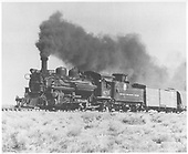 3/4 left side view of K-28 #475 hauling freight.<br /> D&amp;RGW