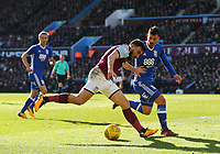 Robert Snodgrass of Aston Villa wins the ball <br /> <br /> Photographer Leila Coker/CameraSport<br /> <br /> The EFL Sky Bet Championship - Aston Villa v Birmingham City - Sunday 11th February 2018 - Villa Park - Birmingham<br /> <br /> World Copyright &copy; 2018 CameraSport. All rights reserved. 43 Linden Ave. Countesthorpe. Leicester. England. LE8 5PG - Tel: +44 (0) 116 277 4147 - admin@camerasport.com - www.camerasport.com