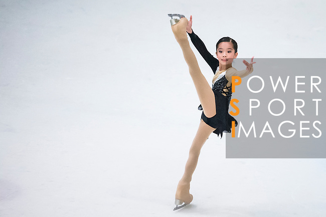 Mei Ning Chan competes during the Asian Junior Figure Skating Challenge 2015 on October 07, 2015 in Hong Kong, China. Photo by Aitor Alcalde/ Power Sport Images