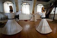 Nordzypern, Mevlevi Tekke-Museum in Nicosia Lefkosa), ehemaliges Derwischkloster, tanzende Derwische
