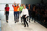 October 16, 2011: Tokyo, Japan - Paul Smith (center) and models thank the audience as they walk down the catwalk at the Paul Smith show during the Mercedes-Benz Fashion Week Tokyo 2012 S/S. The Mercedes-Benz Fashion Week Tokyo runs from October 16-22. (Photo by Christopher Jue/AFLO)