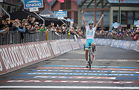stage winner for a 2nd day in a row: Fabio Aru (ITA/Astana)<br /> <br /> Giro d'Italia 2015<br /> (finish of) stage 20: Saint Vincent - Sestriere (199km)