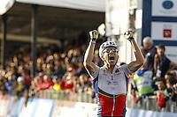 Gold medallist Portugal's Rui Costa<br /> Men's elite road race at the UCI Road World Championships in Florence September 29, 2013 <br /> Firenze 29/9/2013 <br /> Mondiali Ciclismo Strada Pro <br /> Foto Serlingen / Insidefoto