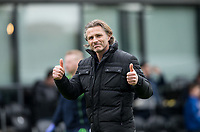 Wycombe Wanderers Manager Gareth Ainsworth gives thumbs up to the support during the Sky Bet League 2 match between Barnet and Wycombe Wanderers at The Hive, London, England on 17 April 2017. Photo by Andy Rowland.