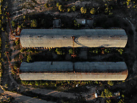 Vista aerea de terrenos campestres y rio San Miguel  en San Pedro el Saucito. Comunidad dedicada a la agricultura y ganader&iacute;a. <br />  (Foto: Luis Gutierrez / NortePhoto.com)