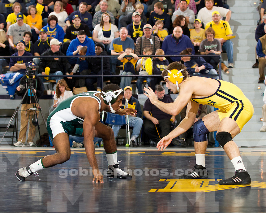 The University of Michigan wrestling team defeated Michigan State, 26-9, at Cliff Keen Arena in Ann Arbor, Mich., on January 29, 2012.
