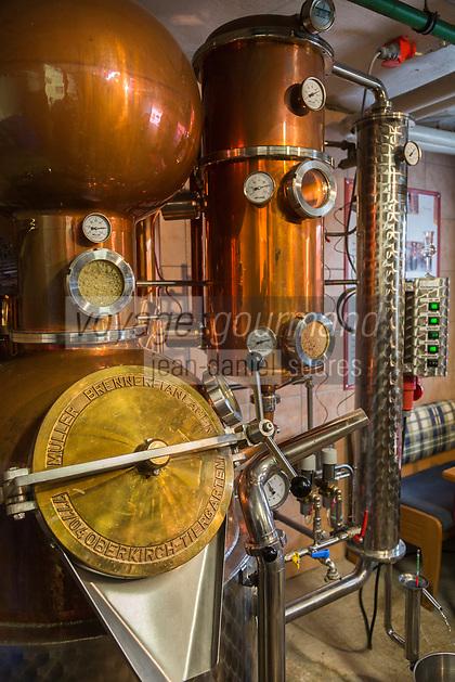 Europe/Allemagne/Bade-Würrtemberg/Forêt Noire/Bad Peterstal-Griesbach: Distillerie: Löcherhansenhof, distillation du Schnaps
