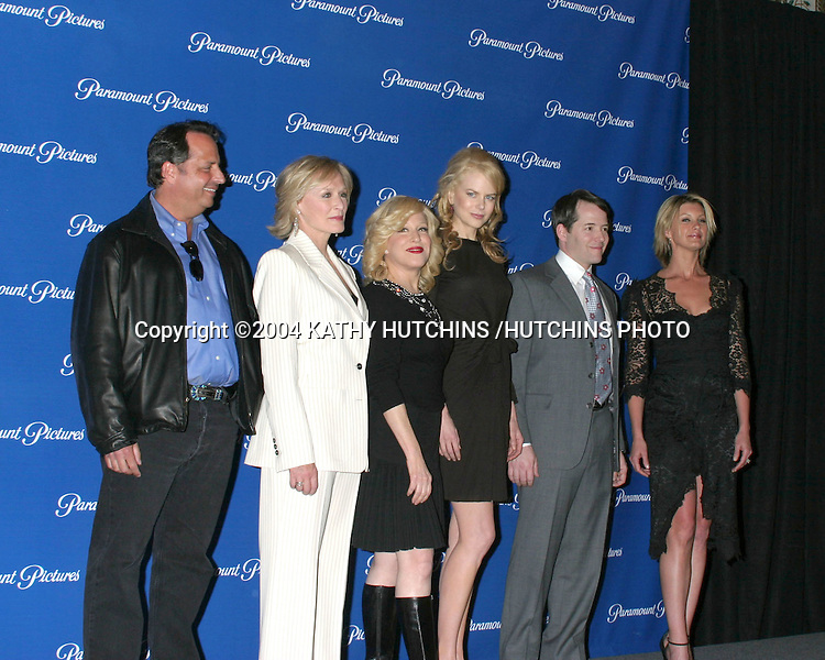 ©2004 KATHY HUTCHINS /HUTCHINS PHOTO.PARMOUNT STUDIOS DINNER PRESS ARRIVALS.SHOWEST.MARCH 24, 2004 ..JON LOVITZ.GLENN CLOSE.BETTE MIDLER.NICOLE KIDMAN.MATTHEW BRODERICK.FAITH HILL