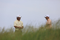 Lucas Glover and Bill Haas (USA) on the 18th tee during Wednesday's Practice Day of the 117th U.S. Open Championship 2017 held at Erin Hills, Erin, Wisconsin, USA. 14th June 2017.<br /> Picture: Eoin Clarke | Golffile<br /> <br /> <br /> All photos usage must carry mandatory copyright credit (&copy; Golffile | Eoin Clarke)